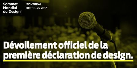 Le 1e Sommet Mondial du Design livre sa « Déclaration de Montréal »